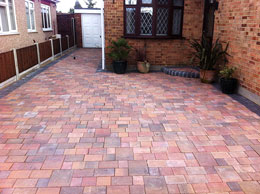 Red block paving Essex